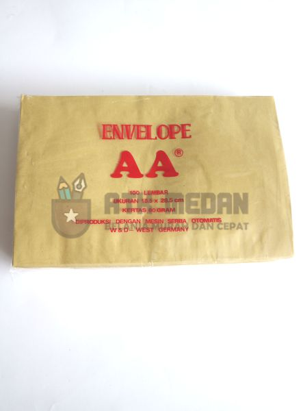 Amplop Coklat AA Uk Quarto (18,5x28,5cm) top