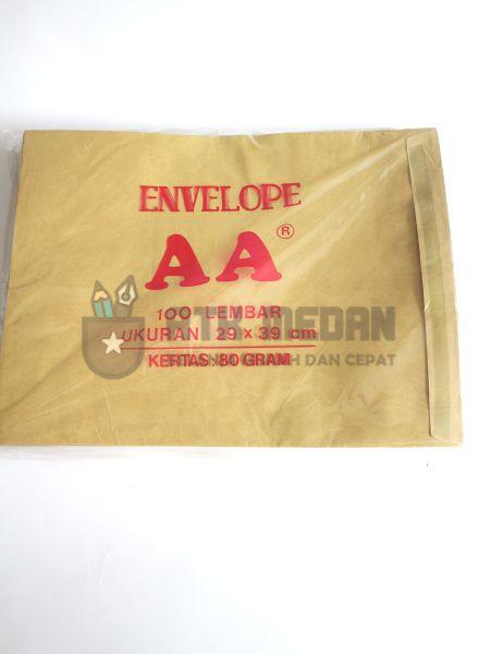 Amplop Coklat AA Uk Stopmap (29x39cm) top