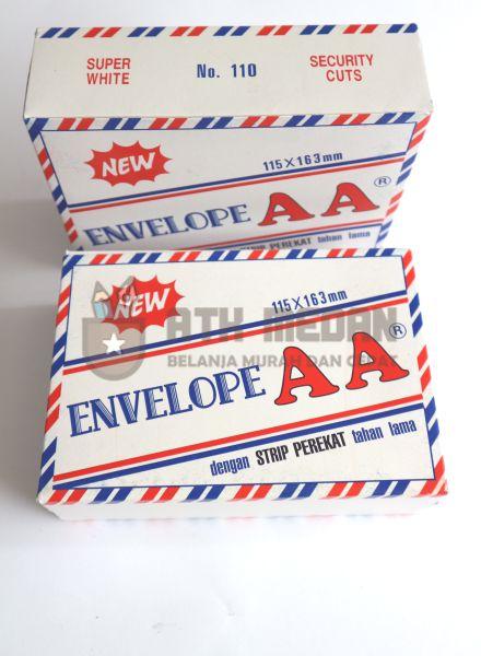 Amplop Putih Pendek Air Mail AA