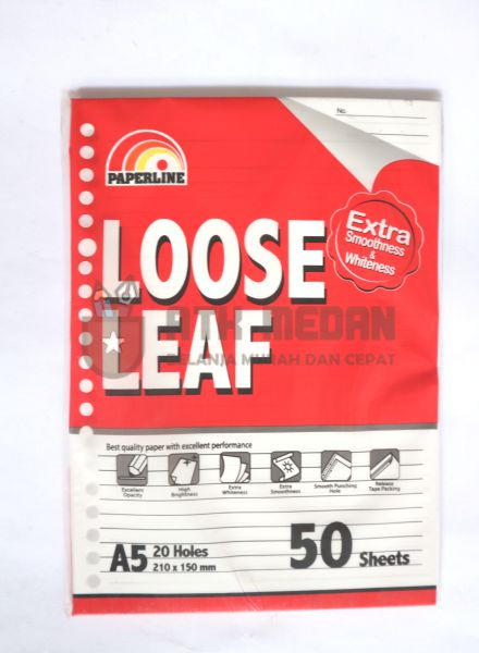 Isi Buku Loose Leaf Kecil Ukuran A5 50 Lembar