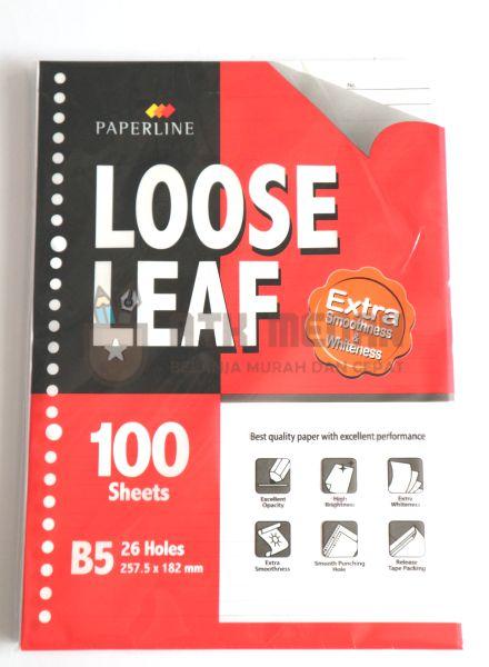Isi Buku Loose Leaf Besar Ukuran B5 100 Lembar