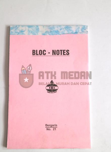 Buku Notes No 21 Merek Obor