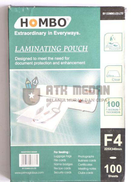 Plastik Laminating / Laminating Pouch Ukuran Folio F4
