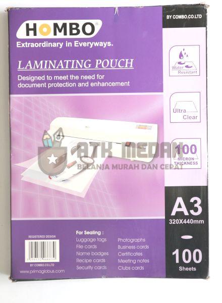 Plastik Laminating / Laminating Pouch Ukuran Folio A3