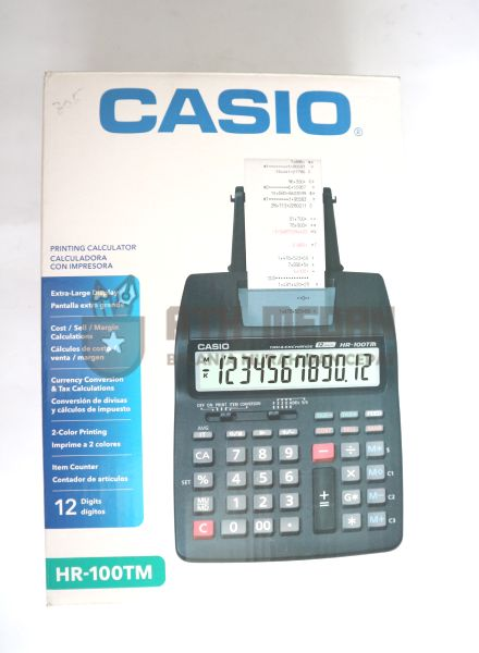 Printing Calculator / Kalkulator HR-100TM top