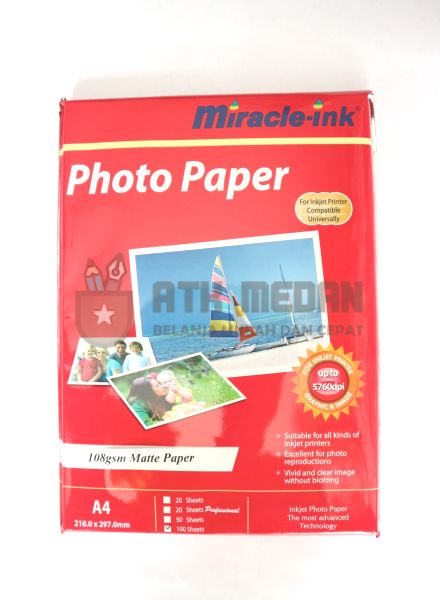 Kertas Foto / Photo Paper A4 108gsm Miracle