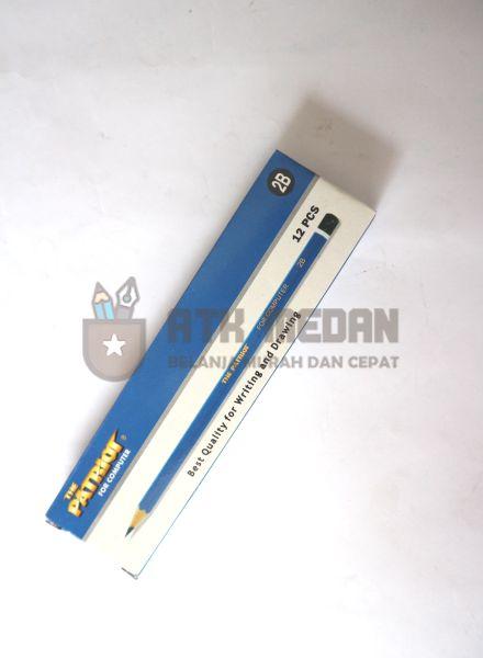 Pensil Kayu 2B Merek Patriot