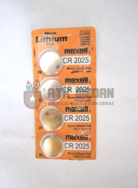 Baterai Calculator / Jam Tipe CR2025